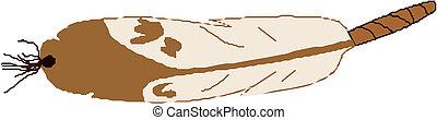 Vector illustration bird feather