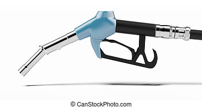 Bluef fuel  pump nozzle  isolated on a white background
