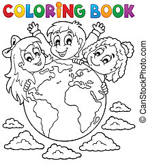 Coloring book kids theme 2