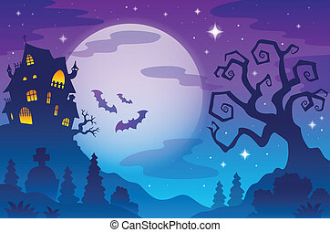 Halloween topic background 1 - eps10 vector illustration