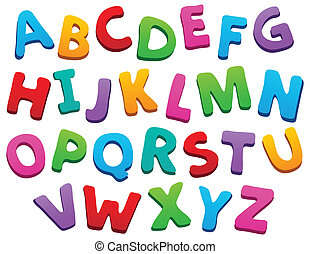 Image with alphabet theme 5