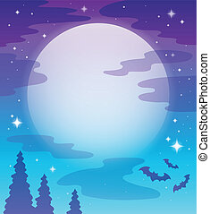 Image with night sky topic 1 - eps10 vector illustration