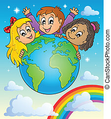 Kids thematic image 2 - eps10 vector illustration
