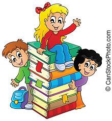 dzieciaki, tematyczny, wizerunek, 4