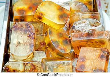 Homemade honey soap - Bars of the soap done on honey