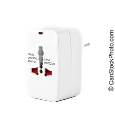 Adapter - The universal adapter isolated on white background