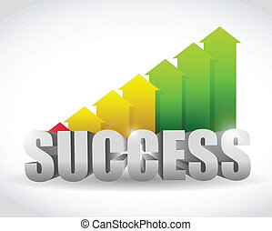 successful arrow color graph. illustration design