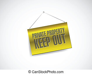 private property keep out sign banner illustration design