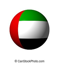Sphere with flag of United Arab Emirates - Sphere with...