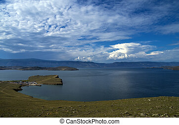 Clouds over Lake Baikal - The view from the ferry to the...