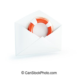 letter Life Buoy isolated on a white background