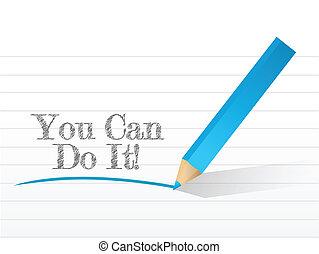 you can do it written