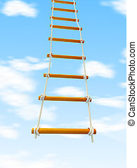escape ladder Stairway to Heaven on a white background -...