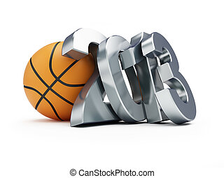 basketball ball 2013 on a white background