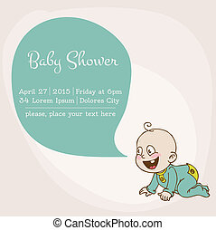 Baby Shower Card - with place for your text - in vector