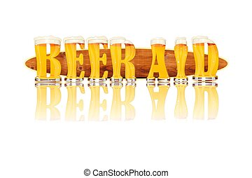 BEER ALPHABET letters BEER AID - Very detailed illustration...