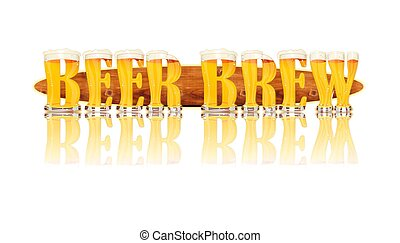 BEER ALPHABET letters BEER BREW - Very detailed illustration...
