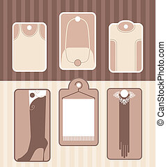 Set of labels for accessory or clot - Some examples of...