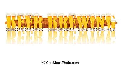 BEER ALPHABET letters BEER BREWING - Very detailed...