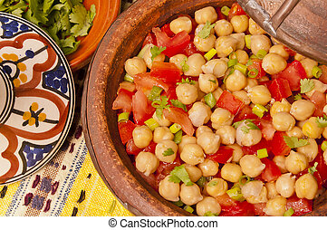 Chickpeas and tomato salad - Delicious tangine of chickpeas...