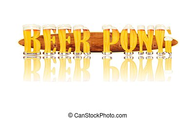 BEER ALPHABET letters BEER PONG - Very detailed illustration...
