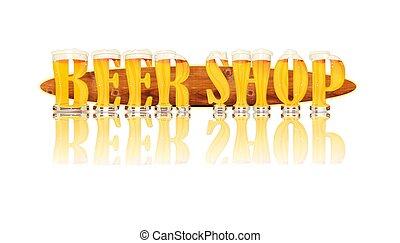 BEER ALPHABET letters BEER SHOP - Very detailed illustration...
