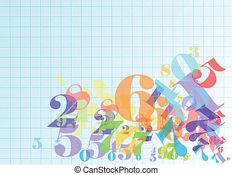 arithmetic. abstract background with numbers. 10 EPS