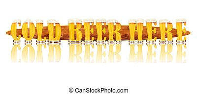 BEER ALPHABET l COLD BEER HERE - Very detailed illustration...