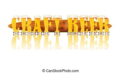 BEER ALPHABET letters CRAFT BEER - Very detailed...