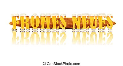 BEER ALPHABET letters FROHES NEUES - Very detailed...