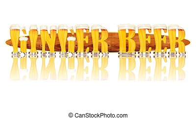 BEER ALPHABET letters GINGER BEER - Very detailed...