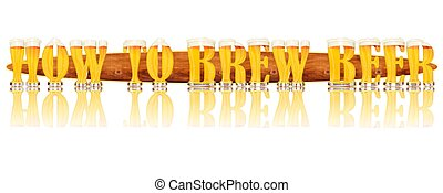 BEER ALPHABET HOW TO BREW BEER - Very detailed illustration...