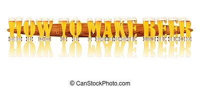 BEER ALPHABET HOW TO MAKE BEER - Very detailed illustration...