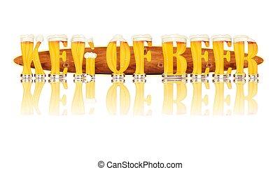 BEER ALPHABET letters KEG OF BEER - Very detailed...