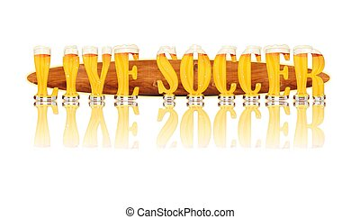 BEER ALPHABET letters LIVE SOCCER - Very detailed...