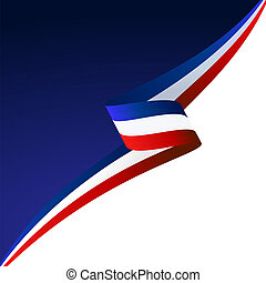 Blue white red - Abstract color vector background England...