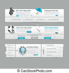 Web site design menu navigation elements with icons set:...