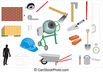 Construction and maintenance - Set of 22 icons vector for...