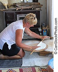 The traditional making of Turkish b - TURKEY,CALIS, 1st...