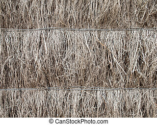 detail of brushwood fence - detail of thatched heather...