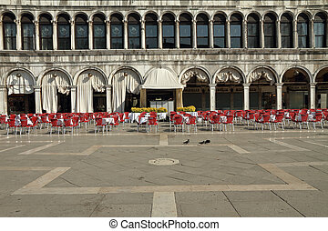 Piazza San Marco - Quiet Piazza San Marco in the early...