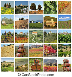 tuscan landscape - series of images with fantastic tuscan...