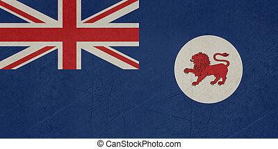 Grunge Tasmania state flag