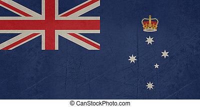 Grunge Victoria state flag