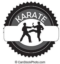 karate symbol on white background