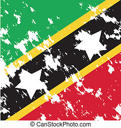 St kitts and Nevis - dirty St Kitts and Nevis flag...