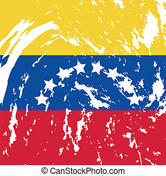 Venezuela - Dirty Venezuela flag background