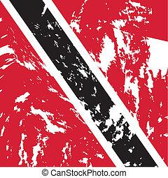 Trinidad and Tobago - dirty Trinidad and Tobago flag...