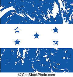 Honduras - dirty Honduras flag backgroudn
