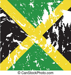 Jamaica - dirty Jamaica flag background